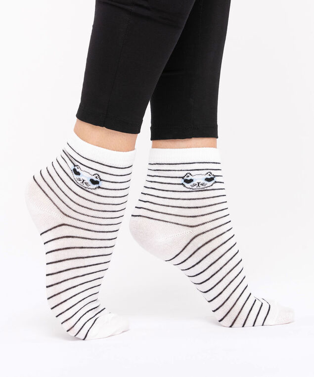 Cool Cat Crew Sock, Black/Pearl, hi-res