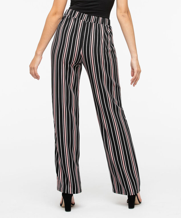 Striped Wide Leg Pant, Black/Petal Pink/Pearl, hi-res
