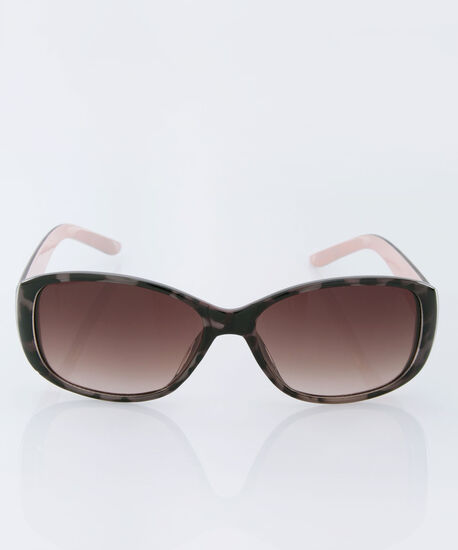 Animal Print Sunglasses, Brown/Black/Pink, hi-res