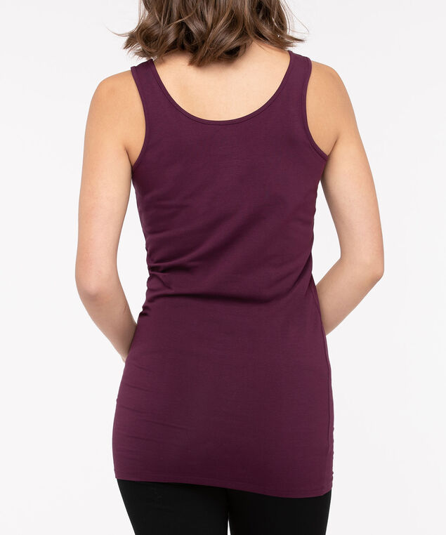Tunic Length Cami, Berry, hi-res