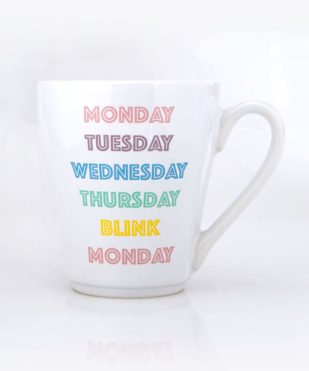 Monday Blink Mug, True White/Cameo Pink, hi-res