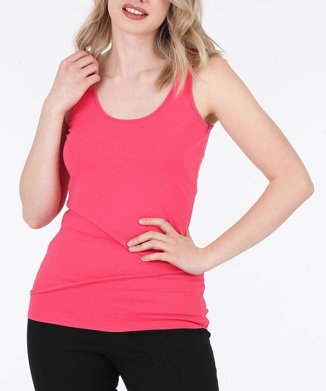 Scoop Neck Cami, Watermelon, hi-res