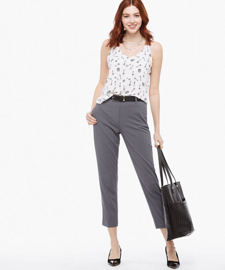Scuba Crepe Pull-On Ankle Pant, Iron, hi-res