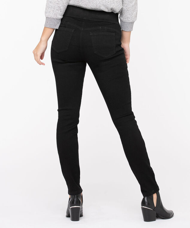 Super Stretch Denim Jegging, Black