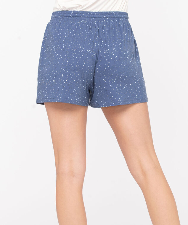 Let It Snow Pajama Shorts, Soft Blue/Pearl, hi-res