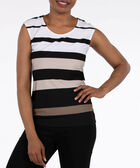 Extended Sleeve Scoop Neck Top, Pearl/Taupe/Black, hi-res