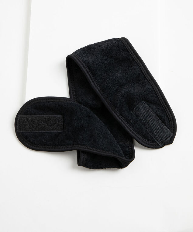 French Terry After Shower Headband, Black