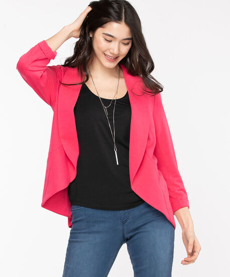 Terry Shawl Collar Cover Up, Rouge Red, hi-res