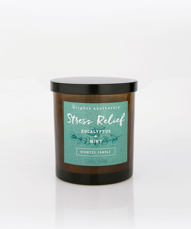 Eucalyptus & Mint Scented Candle, Brown/Tropical Teal, hi-res