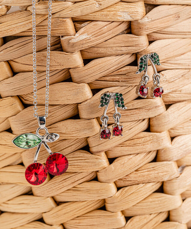 Cherry Necklace, Silver