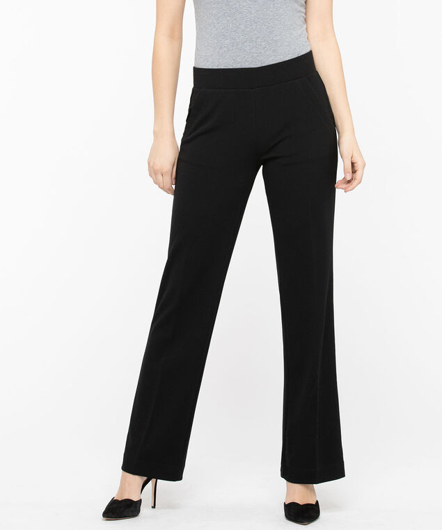 Crepe Wide Leg Trouser, Black, hi-res