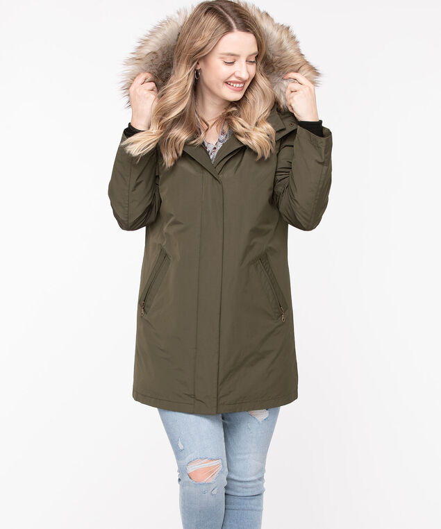 Olive Three-In-One Jacket, Olive/Brown/Black