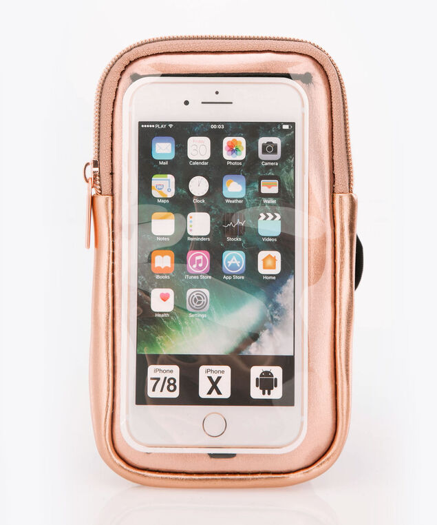 Arm Band Phone Case, Black/Rose Gold, hi-res