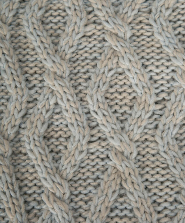 Chunky Cable Knit Eternity Scarf, Iced Blue/Grey, hi-res
