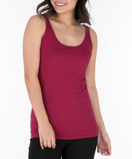 Scoop Neck Cami, Sangria, hi-res