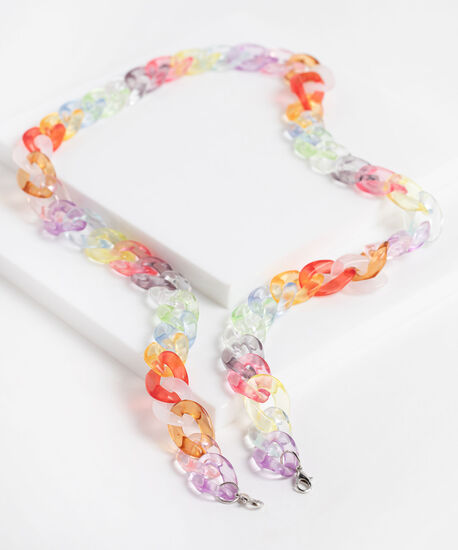Rainbow Chain Link Mask Chain, Assorted, hi-res