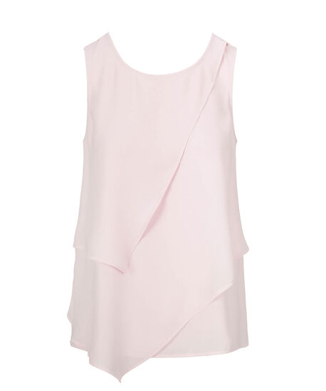 Tiered Sleeveless Blouse, Iced Pink, hi-res