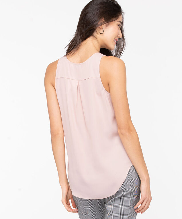 Pleat Back Woven Essential Cami, Misty Rose