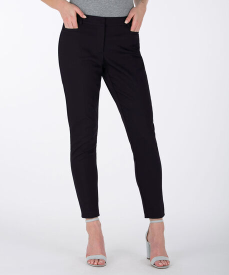 Double Weave Ankle Pant, Navy, hi-res