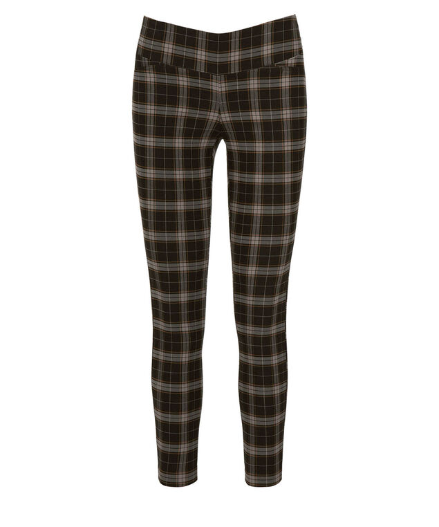 Plaid Pull-On Ankle, Black/Grey, hi-res
