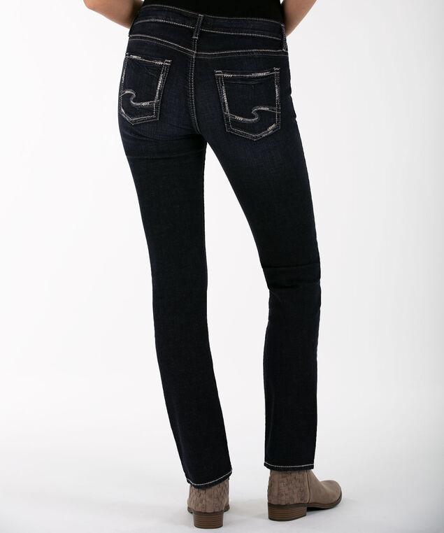 SILVER JEANS CO. ELYSE Straight, Dark Rinse, hi-res