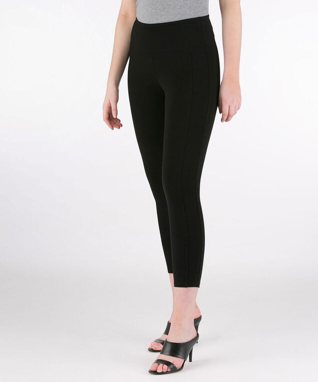 Luxe Ponte Crop Legging, Black, hi-res