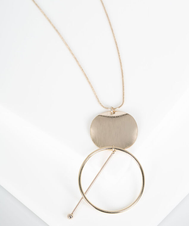 Geo-Shapes Pendant Necklace, Gold, hi-res