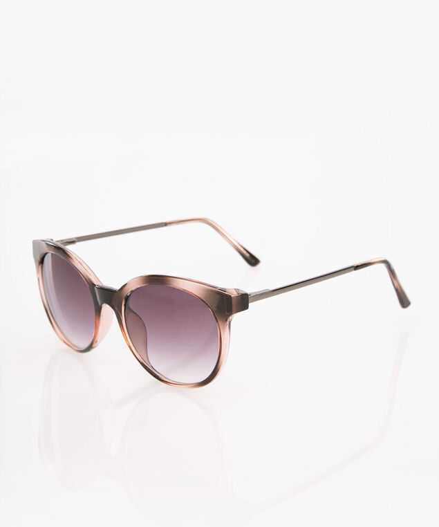 Ombre Cateye Sunglasses, Brown, hi-res