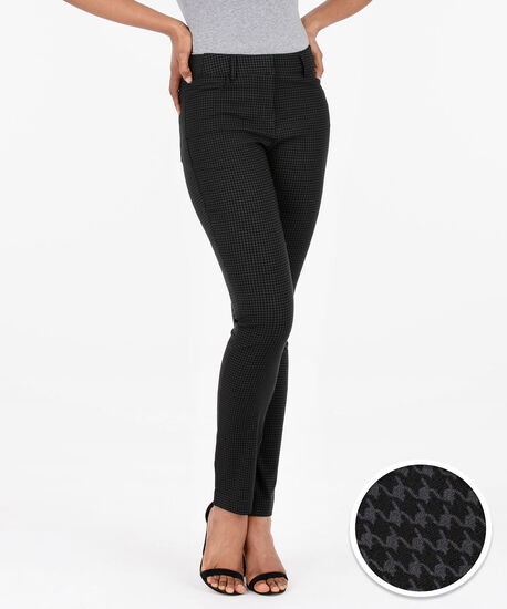Jacquard Fly Front Slim Leg, Charcoal, hi-res