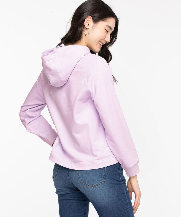Long Sleeve Hooded Sweatshirt, Orchid Petal