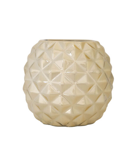Pineapple Shaped Ceramic Organizer, Gold, hi-res