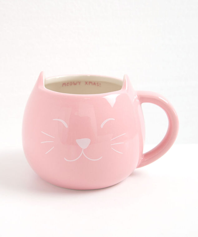 Furever Merry Cat Mug, Dusty Pink/Pearl, hi-res