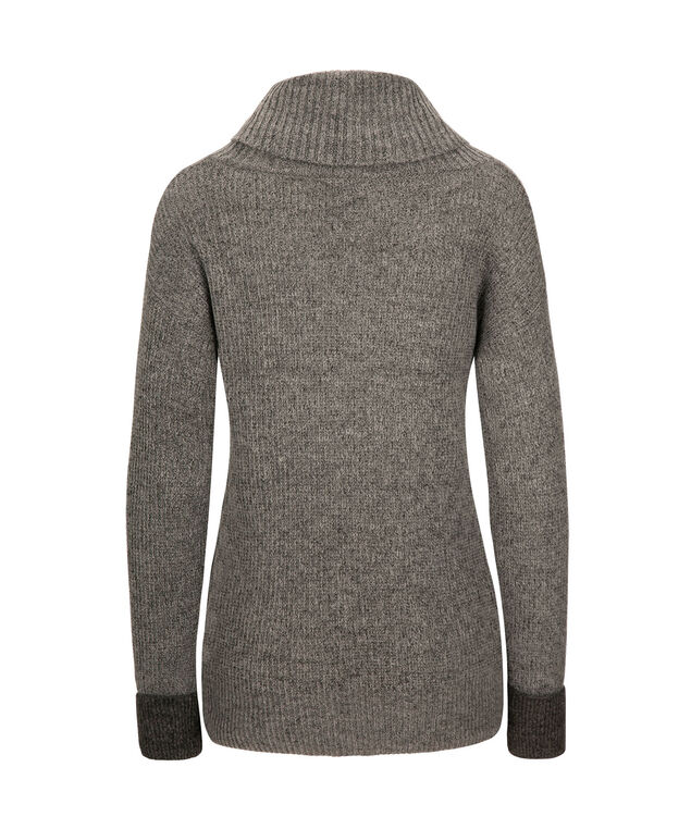 Roll Cuff Plush Pullover, Grey/Charcoal, hi-res