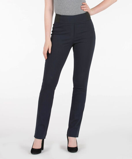 Microtwill Pull On Straight Leg, Navy, hi-res