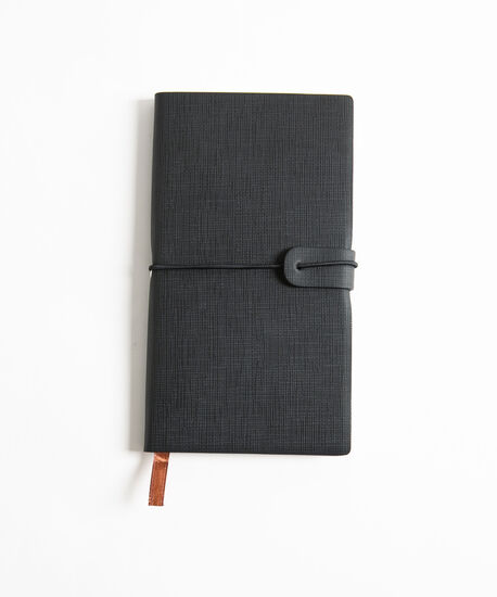 Small Planner Notebook, Black, hi-res