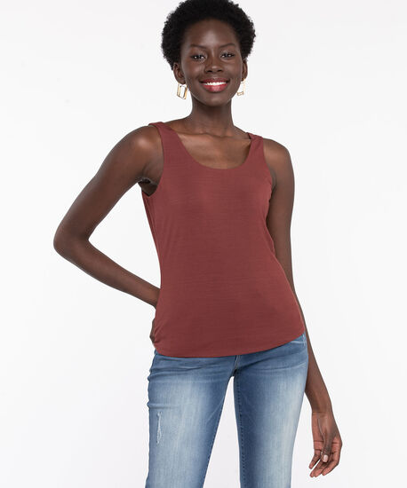 Double Layer Smoothing Cami, Cinnamon, hi-res