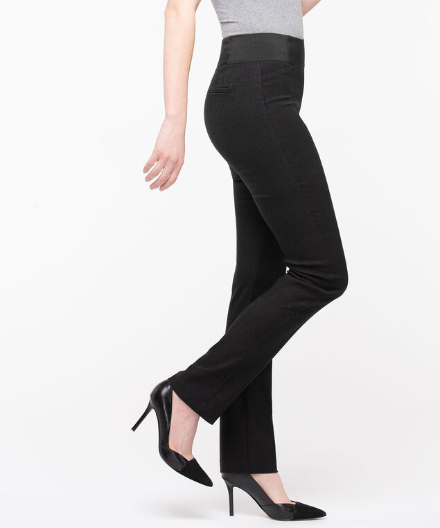 Microtwill Pull On Straight Leg, Black Mix, hi-res