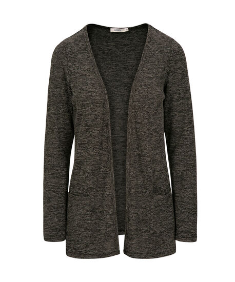 Front Pocket Cardigan, Charcoal/Black, hi-res