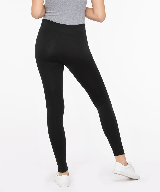 Plush Knit High Rise Legging, Black, hi-res
