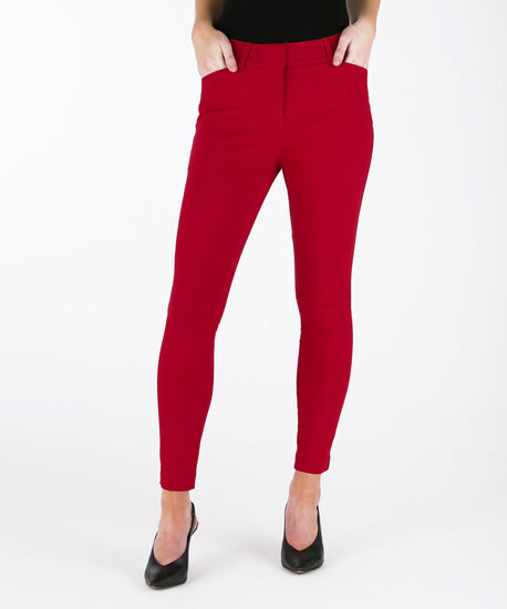 Microtwill Fly Front Ankle Pant, Poppy Red, hi-res