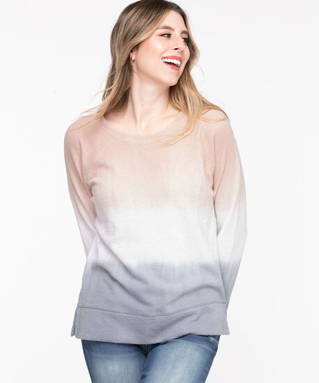 Dip Dye Sweat Shirt, Blush/white/Soft blue, hi-res