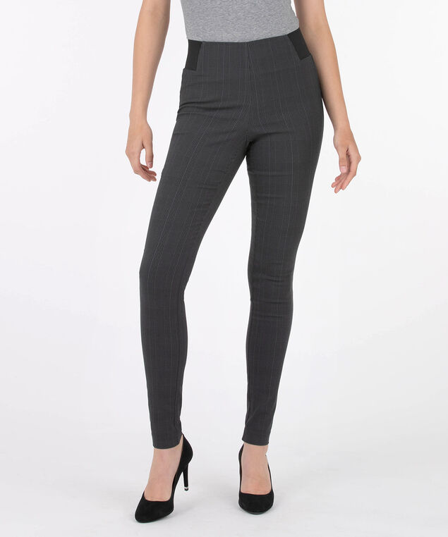 Jacquard Pull On Super Slim Leg - Long, Grey/Black, hi-res