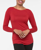 Boatneck Essential Layering Top, Cherry, hi-res
