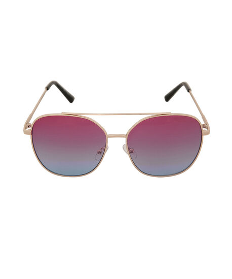 Ombre Metal Frame Sunglasses, Pink/Blue/Gold, hi-res