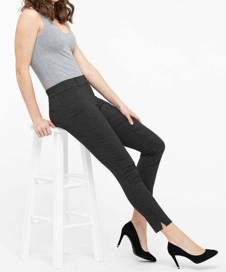 Microtwill Fly Front Ankle Pant, Black/Charcoal, hi-res