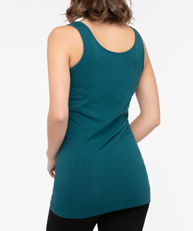 Tunic Length Cami, Teal, hi-res