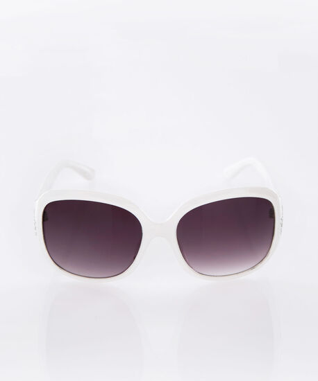 Crystal Trim Square Sunglasses, Milkshake, hi-res