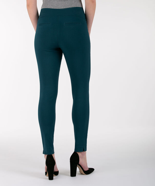 Microtwill High Rise Ankle Pant, Midnight Teal, hi-res