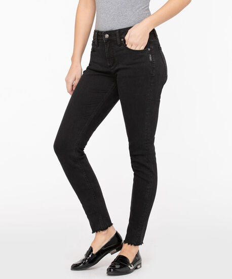 Silver Jeans Co. Avery High Rise Skinny, Black, hi-res