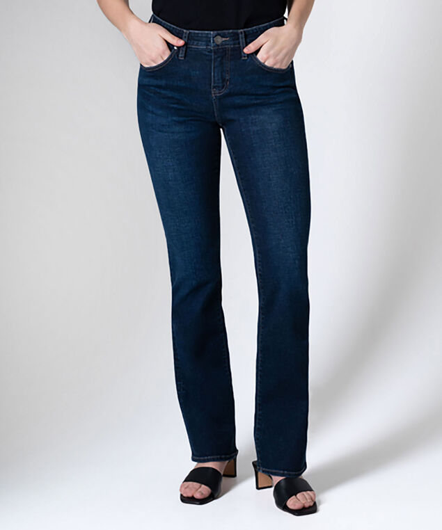 Eloise Mid Rise Bootcut Jeans, Night Breeze